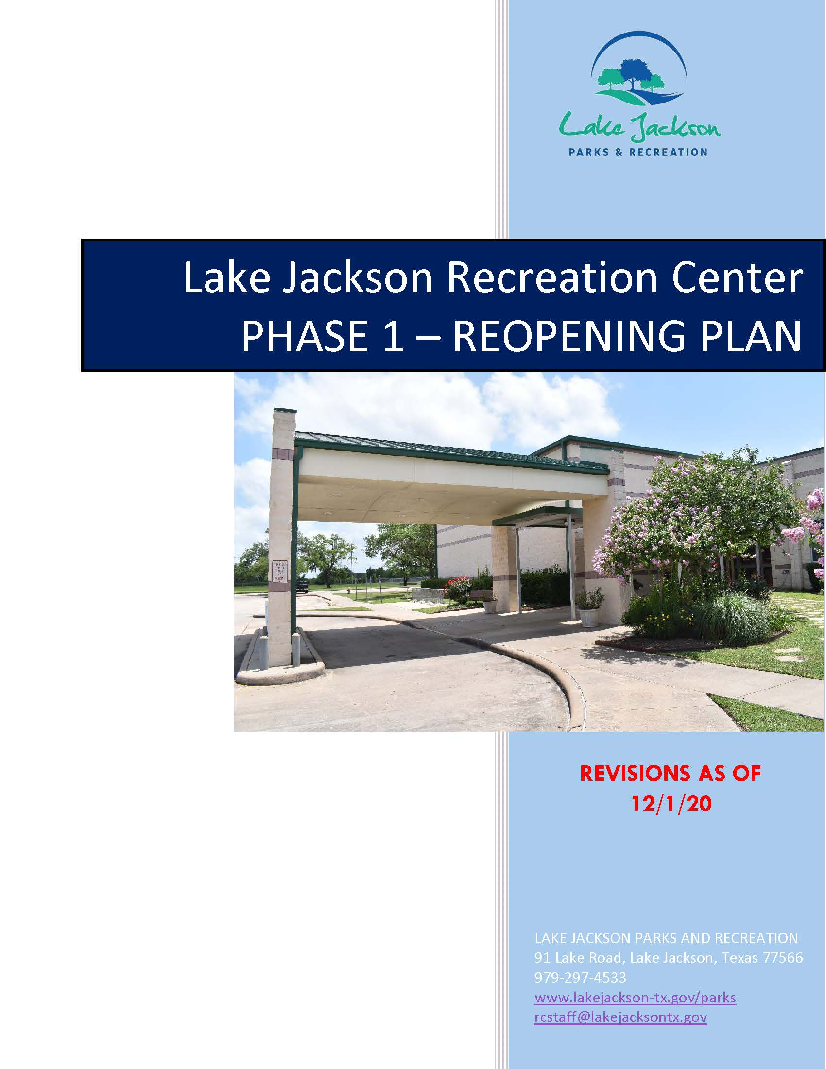Reopening The Recreation Center Handbook