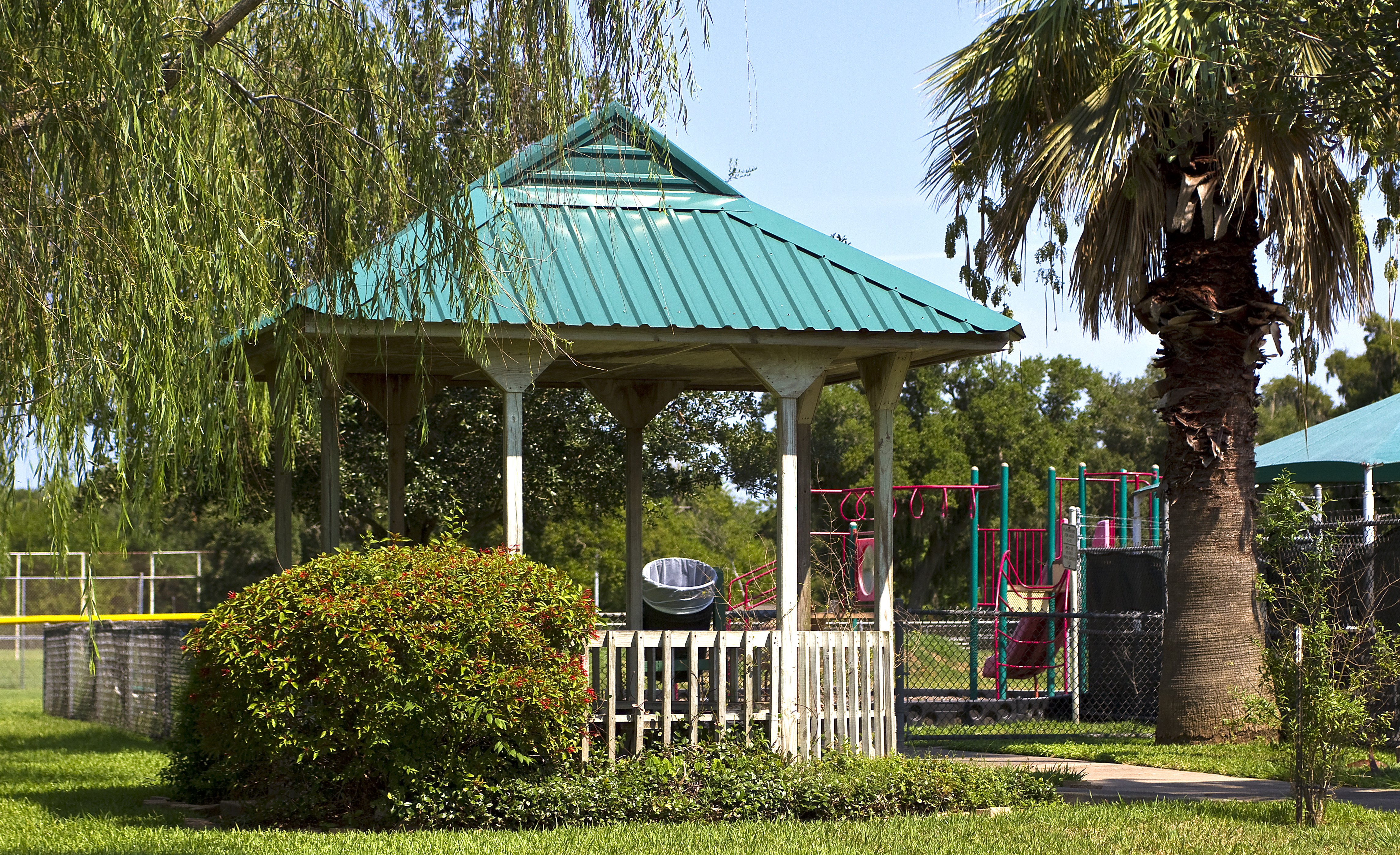 Outdoor Pool Gazebo and Playground